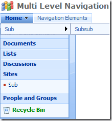 multi level navigation